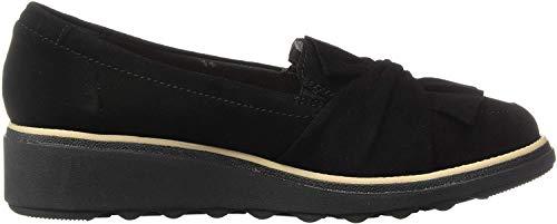 Clarks Women's Sharon Dasher Shoe, Black Suede, 75 M US