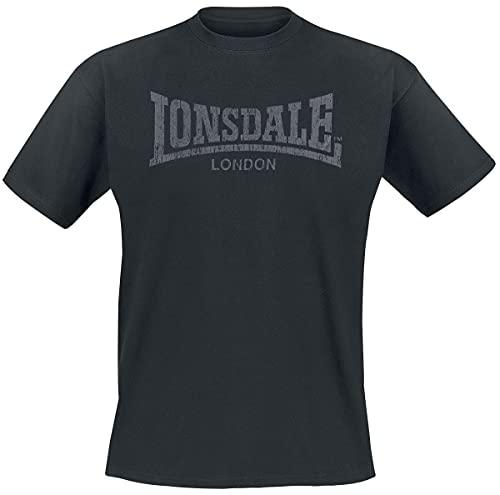 Lonsdale Vintage T-Shirt, Noir (Schwarz), X-Large (Taille Fabricant: XL) Homme