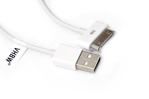 vhbw Cavo dati USB (da tipo A a iPod) compatibile con Apple iPod Nano (Generation 1 & 2), Photo, Touch, Video lettore MP3 - bianco
