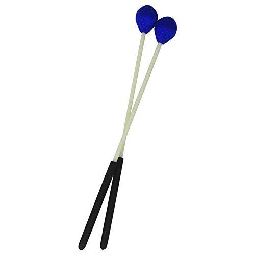 Primäre Marimba-Stick Schlägel Xylophone Glockensplel Mallet mit Fiberglasstiel Schlaginstrument Zubehör for Profis Amateure 1 Paar Blau Musikinstrument Zubehör (Color : Blue)