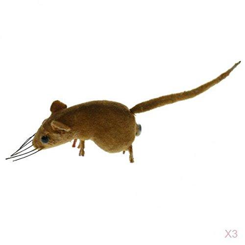 H HILABEE 3X Realistico Mouse Ornamento Parodia Giocattolo Animale Patio Albero Prato Topi Decorazioni per La Casa