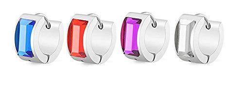 WONS Pendientes de aro de acrílico Huggies para mujer/Purple(Silver)