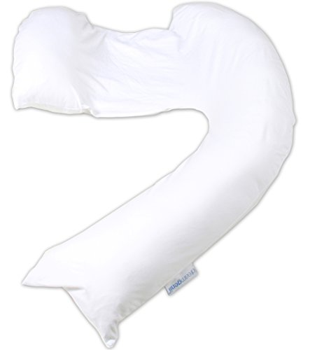 Dreamgenii overtrek zwangerschapsondersteuning en voeder kussen White Cotton Jersey