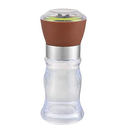 N\C XIKUO Botella de plástico para triturar a Mano Sal Molinillo de Pimienta Afilado de Cuchillos Molinillo de Especias de Chile-Molinillo de Sal Negro Salero Molinillos de Pimienta Molinillo