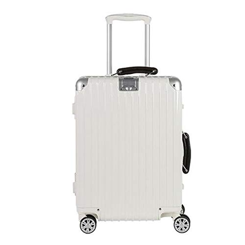 New WUZHONGDIAN Luggage, PC Material Unisex Trolley Case, Silver, Large Capacity (Color : White, Siz...