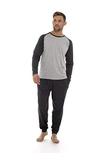 CityComfort Mens Pyjamas 100% Super Soft Cotton PJ (2XL, Light & Dark Grey)