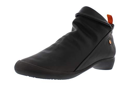 Softinos Damen Ankle Boots Farah, Frauen,Stiefeletten,uebergangsstiefel,flach,Women's,Woman,Lady,Ladies,Boots,Stiefel,Schwarz (Black),40 EU / 6.5 UK