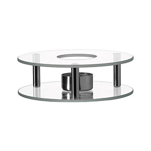 Leonardo 025521 - Scaldino - Stövchen - Glas & Edelstahl - für sämtliche Teekannen geeignet