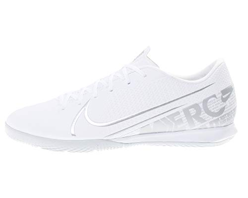 Nike Unisex-Erwachsene Vapor 13 Academy Ic Futsalschuhe, White Chrome Metallic Silver, 40 EU