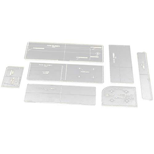 Baoblaze 8stk Acryl Vorlagen Werkzeug DIY Geldbörse Schablone Lederhandwerk Prägeschablonen für Portemonnaie, Börse, Brieftasche 9,5×10,5 cm