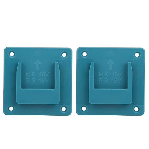 Electric Tool Holder, 2Pcs Machine Holder Wall Mount Storage Bracket Fixing Devices for Makita 18V Electric Tool(Cyan)