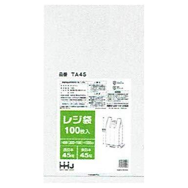 【ケース販売】レジ袋(白)TA45 100枚×10冊 ...