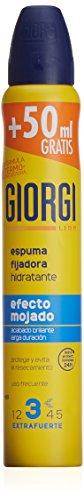 GIORGI LINE espuma fijadora efecto mojado extrafuerte spray 210 ml