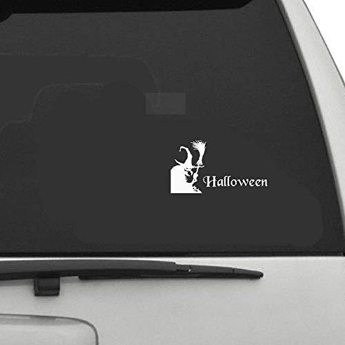 16,6x9,1 Cmcoolest Halloween Hexe Party Horror Decor Auto Modellierung Aufkleber Zubeh?r Motorrad für Auto Laptop Fenster Aufkleber