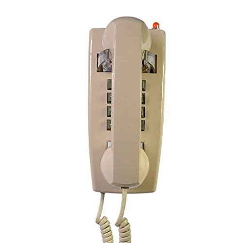 Teléfono de pared retro estilo antiguo con teléfono de control de volumen teléfono fijo con cable impermeable y a prueba de humedad para el hogar