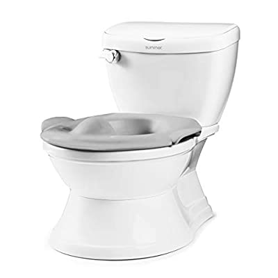 Summer My Size Potty Train and Transition, White- Realistic Potty Training Toilet Looks and Feels Like an Adult Toilet - Includes Removable Potty Topper and Storage Hook, Easy to Empty and Clean from Summer Infant, Inc.