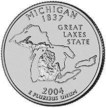 2004 D Michigan State Quarter Choice Uncirculated