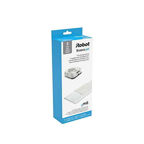 iRobot Authentic Replacement Parts- Braava jet m Series Dry Sweeping Pads, (7-Pack),White - 4632821