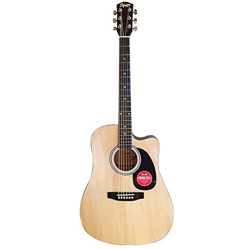 Fender SA-150C dreadnought Squier Guitar Cutway Natural