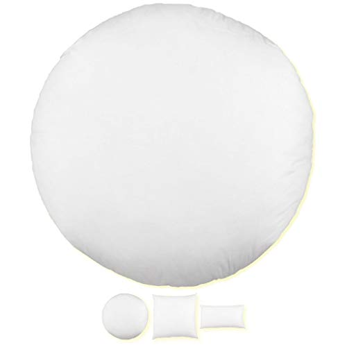 Relleno para cojín, perfecto para el sofá o la cama, ideal como decoración, poliéster, Weiß, 30 cm (redondo)