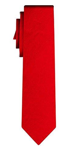 Cravate adoléscent unie solid bright red VII