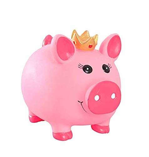 Hucha de la corona de la Hucha de la Moneda Artesanía del Banco de Ahorro de Monedas de los Niños Hucha Regalos Decoración del Hogar