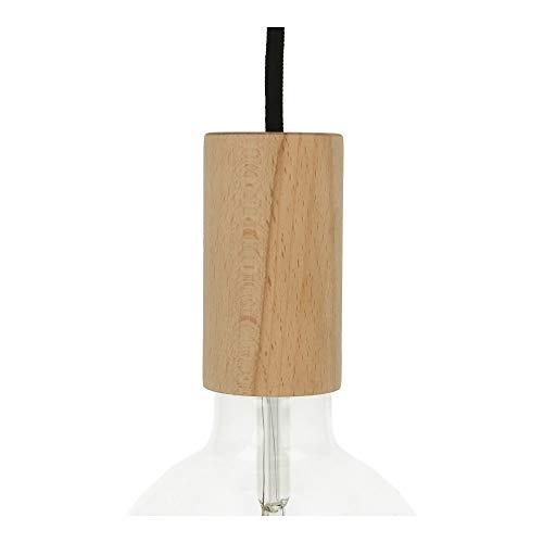 Dekorative E27 Holzfassung Zylinder L Lampenfassung Holz für Lampe