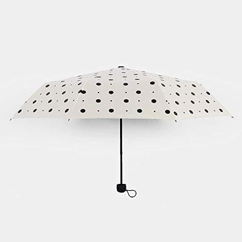 YAKOAD Paraplu dames niet-automatische aluminiumlegering glasvezel sterk frame Drie vouwbare compacte grote regenparaplu