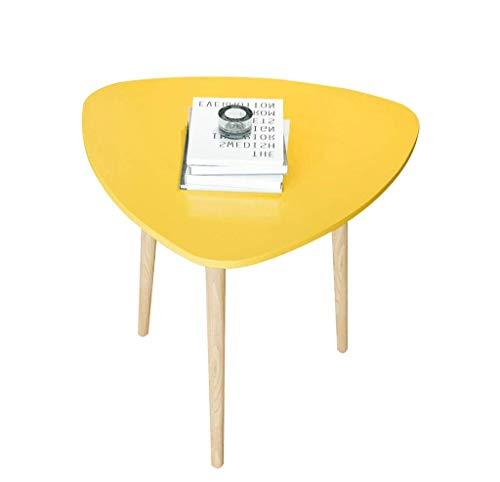 Nologo YO-TOKU Escritorio para ordenador de madera mesa auxiliar de mesa de café amarilla pequeña mesa de comedor mesa de ordenador mesa de ordenador 40 x 40 x 42 cm accesorios de jardín fruncido