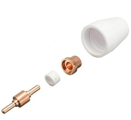 Soplete de Soldadura, 50 PCS Common PT31 Corte de plasma Consumibles de antorcha como ESAB/L-TEC PT-31, LG-40 y WSD-LG40 Accesorios de soldadura