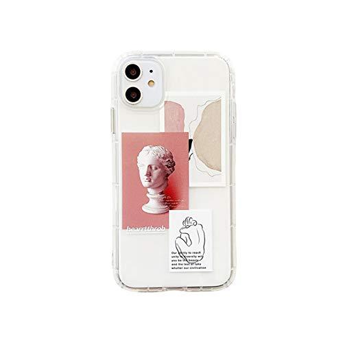 Moda retro etiqueta teléfono casos para iPhone 11 12 mini pro XS Max X XR 7 8 Plus Luxur suave TPU Airbag cubierta 12pro 11pro 12mini-6-para iPhone 11