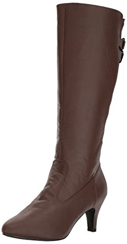 Pleaser Pink Label Women's Div2018/Bnpu Boot, Brown Faux Leather, 13 M US