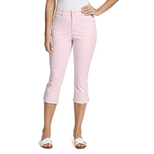 Gloria Vanderbilt Women's Plus Size Comfort Curvy Skinny Jean Capri Length, Wispy Pink, 20W