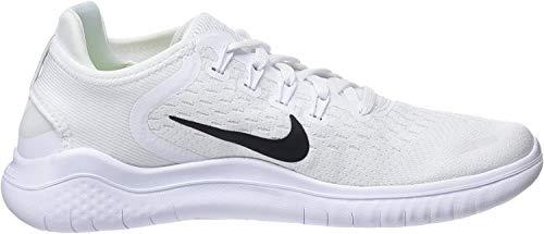 Nike Women's Free RN 2018 Running Shoe (9.5, White/Black)
