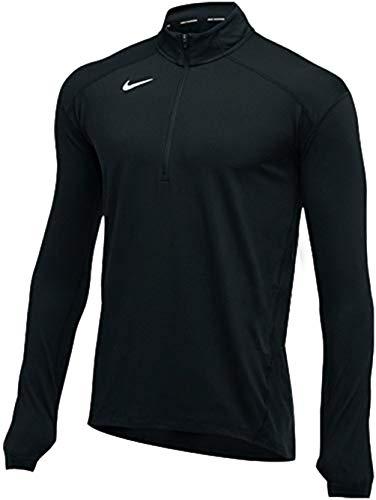 Nike Men's Dry Element TOP Half Zip Long Sleeve T-Shirt (Black, Medium)