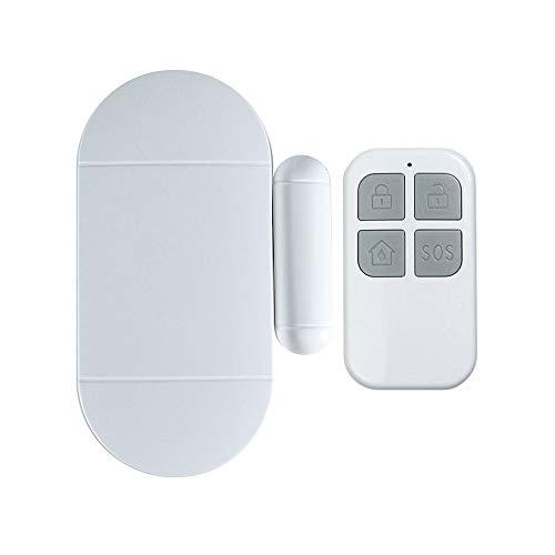Alarma del Timbre de la Puerta, Control Remoto Sensor de Alarma inalámbrico de 130dB, Control Remoto, Alerta de Entrada de Puerta Abierta Sistema de Seguridad de Alerta antirrobo magnético