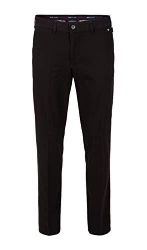 Brühl - Comfort Fit - Herren Chino Hose, London (0643183830100), Größe:25, Farbe:Schwarz (999)