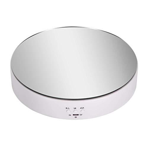 Tocadiscos eléctrico de velocidad ajustable de carga inteligente para espejo blanco de reloj
