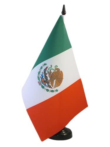 AZ FLAG Bandera de Mesa de MÉXICO 21x14cm - BANDERINA de DESPACHO Mexicana 14 x 21 cm