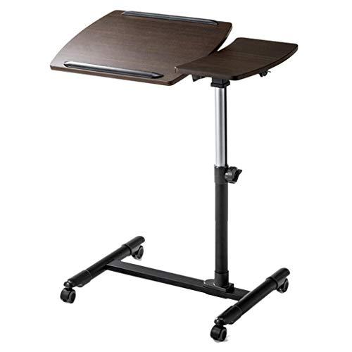 XING ZI Folding table X-L-H Laptop-Hubtisch Kleines Büro Multifunktions-Lerntisch Größe: 70.5x40x58.5~85cm (Farbe : Brown)