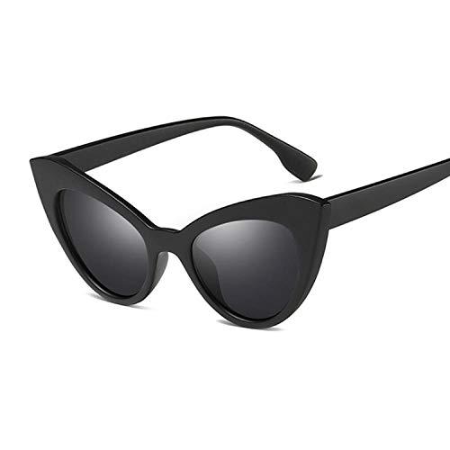 U/N Gafas de Sol para Mujer, de Lujo, Vintage, con Montura Gruesa, Gafas de Sol Retro, Gafas de Moda para Mujer-3