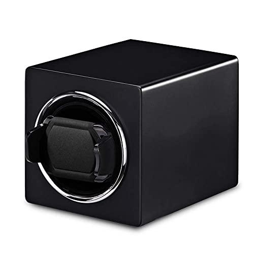 FGVDJ Bobinadoras de Reloj de Cuerda automática para 1 Reloj Bobinadora de Reloj automática Individual con Motor silencioso, 5 configuraciones de Modo de rotación, ad