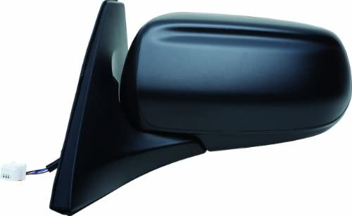 Fit System 66566M Mazda Protege Driver Side Replacement Flat Mirror, Black