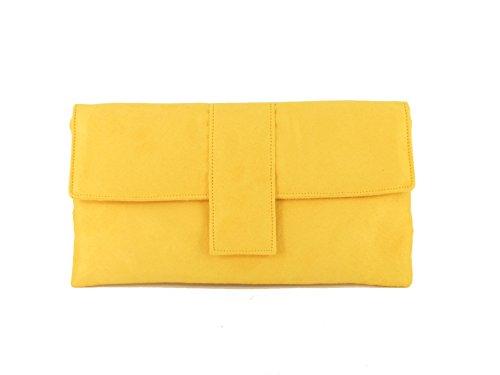 Cartera de Mano amarilla para Mujer