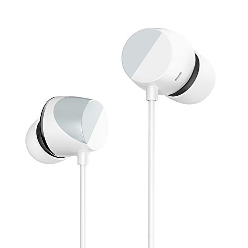 TUNAI Piano Audiophile Earphones - Hi-Res Earbuds with Dual Drivers for Incredible Balanced Sound and Clear Treble - Great for Workouts at The Gym, Sports, Listening at Home (Sterling Silver)