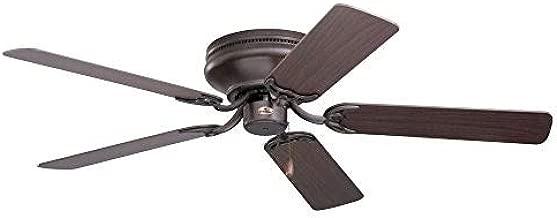 Emerson Ceiling Fans CF805SORB Snugger 52-Inch Low Profile Hugger Ceiling Fan, Light Kit Adaptable, Oil Rubbed Bronze Finish