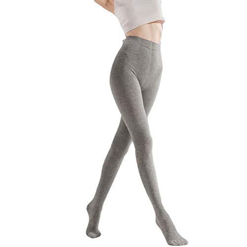 Fenical Strumpfhose dünne gekämmte Baumwolle Druck Hose widerstehen Pilling Lift Hips Strumpfhosen (grau)