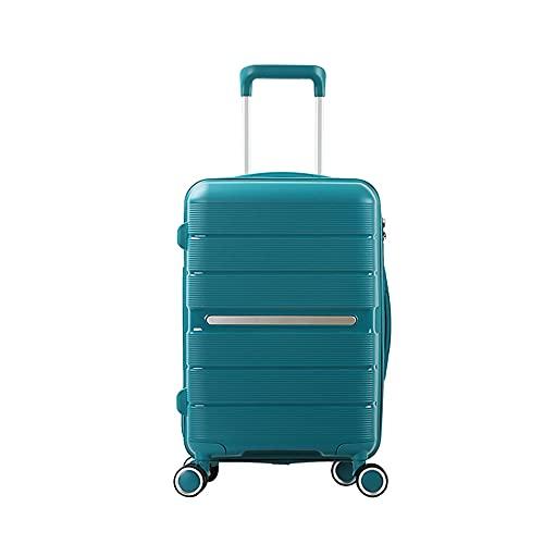 SGCDKSP Valigia Universal Wheel Boarding Case Password Box Box Carrello Bagagli Valigia,Lake Green,24 Inches