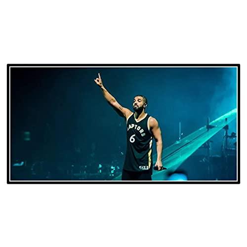 GUICAI Drake-Hip Hop Rap Music Star Art Poster Imagen Telón de Fondo Decoración de la Pared Decoración de la Sala de Estar del hogar -50X100 cm Sin Marco 1 Uds