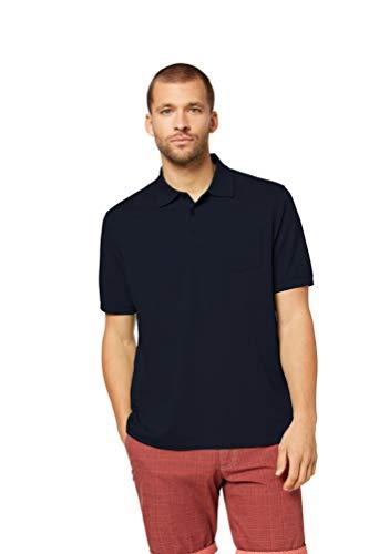 Bugatti Herren Poloshirt mit Brusttasche (XL, Mittelblau)